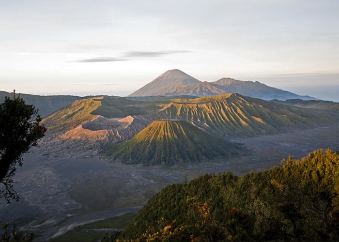 Bromo Greeting Card featuring the digital art Bromo Valley Java Indonesia by Dray Van Beeck