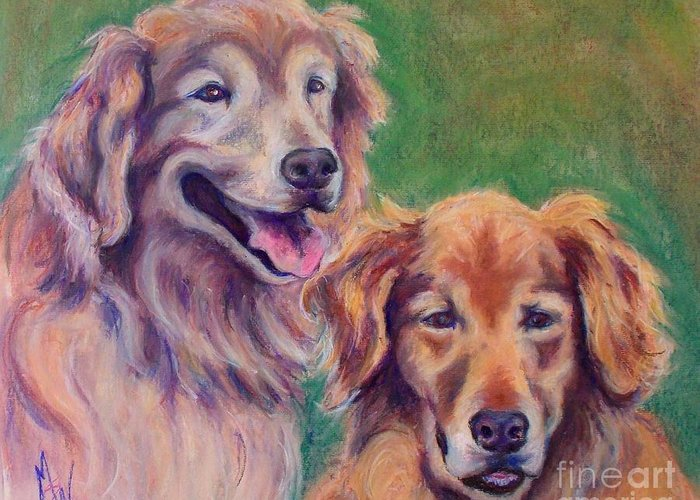 Greeting Card featuring the pastel Brothers by Mindy Sue Werth
