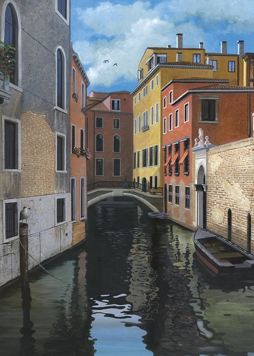 Venice Greeting Card featuring the painting Canal Rhapsody by Harold Shull