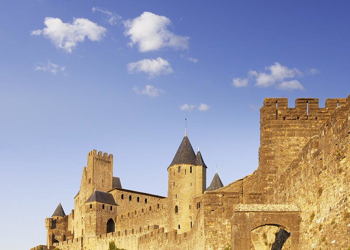 Carcassonne Greeting Card featuring the photograph Carcassonne Languedoc-roussillon France by Colin and Linda McKie