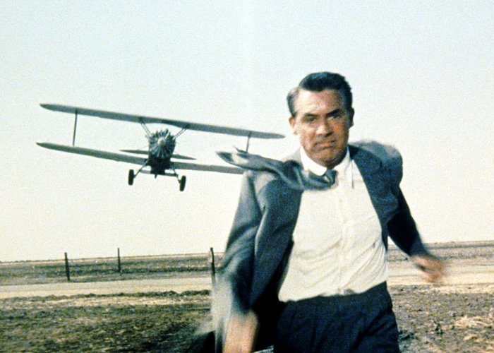 North By Northwest Greeting Card featuring the photograph Cary Grant In North By Northwest by Silver Screen