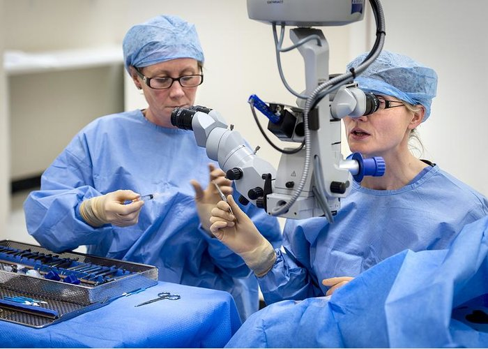 Human Greeting Card featuring the photograph Cataract Eye Surgery by Science Photo Library