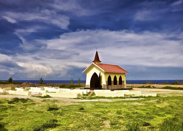 Alto Vista Greeting Card featuring the photograph Chapel By The Sea by David Letts
