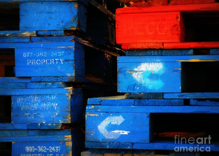 Pallets Greeting Card featuring the photograph Checkmate by Joe Jake Pratt