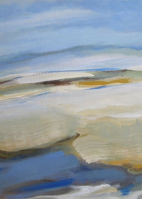 Seascape Greeting Card featuring the painting Coastline by Mary Brooking