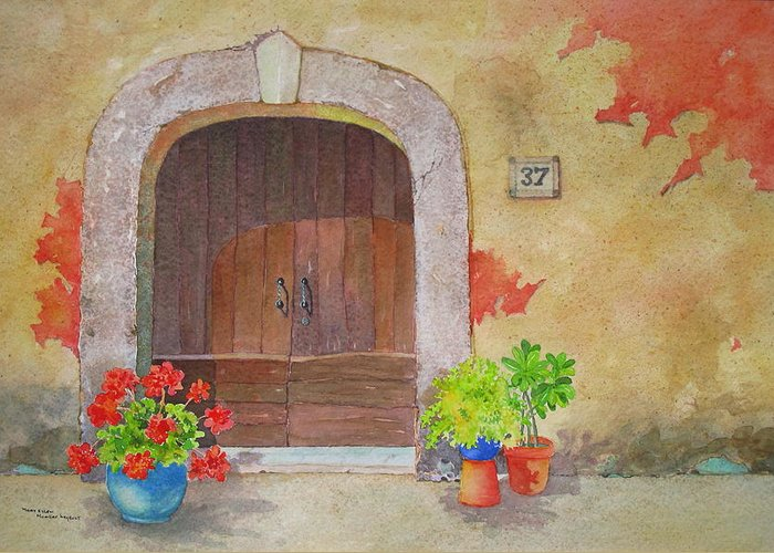 Tuscany Greeting Card featuring the painting Color Me Tuscany by Mary Ellen Mueller Legault