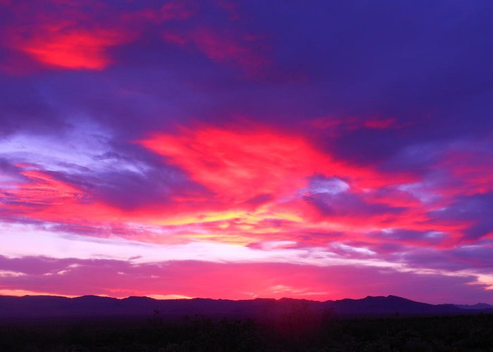 Landscape Greeting Card featuring the photograph Colourful Arizona Sunset by James Welch