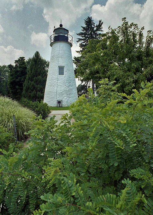 Concord Point Greeting Card featuring the photograph Concord Point Lighthouse by Skip Willits