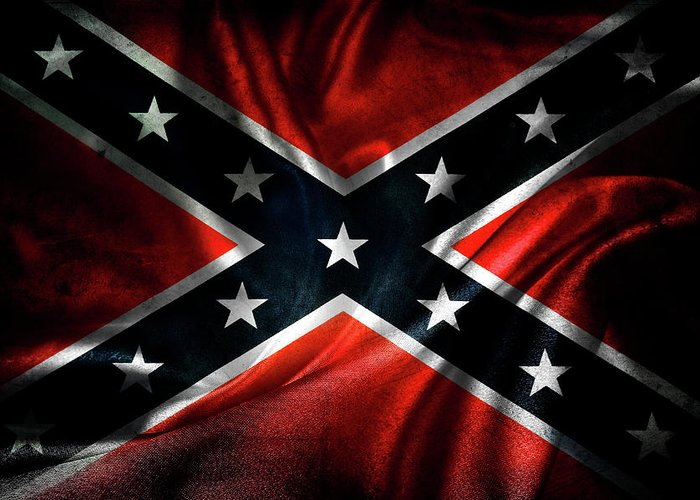 Confederate Flag Greeting Card featuring the photograph Confederate Flag 1 by Les Cunliffe
