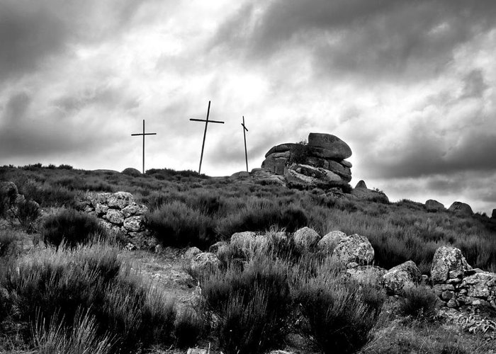 Outdoors Greeting Card featuring the photograph Cross by Bernard Jaubert
