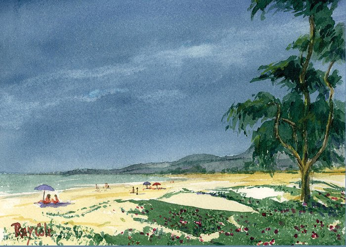 Beach Day Greeting Card featuring the painting Dark Sky by Ray Cole
