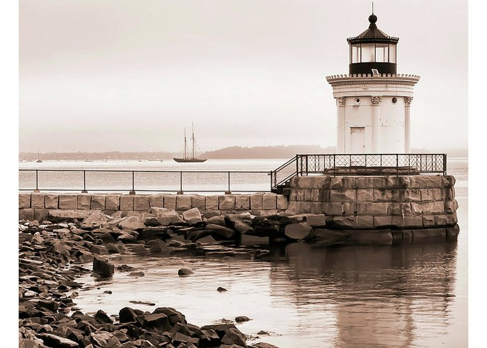 Architecture Greeting Card featuring the photograph Early Morning Bug Light by Richard Bean