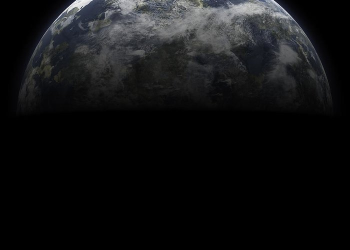 Landscape Greeting Card featuring the photograph Earth Planet by Frank Pali