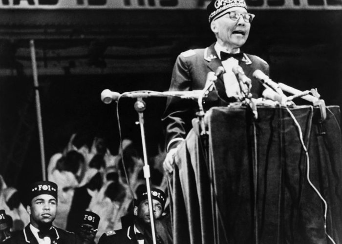 1967 Greeting Card featuring the photograph Elijah Muhammad (1897-1975) by Granger