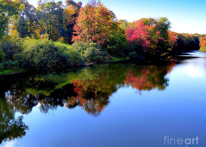 Landscape Greeting Card featuring the photograph Fall Reflections by Rennae Christman