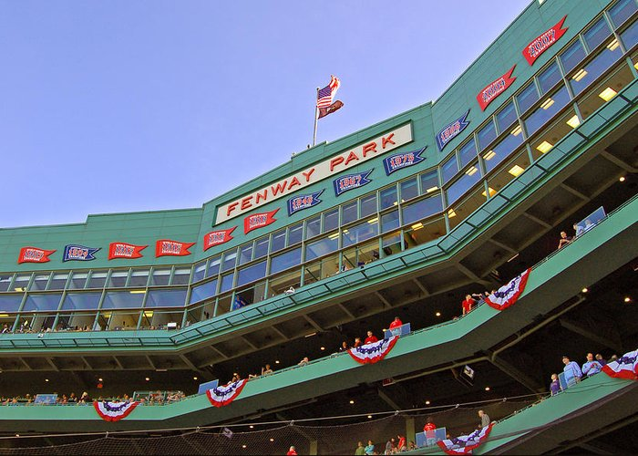 Red Sox Greeting Card featuring the photograph Fenway's 100th by Joann Vitali