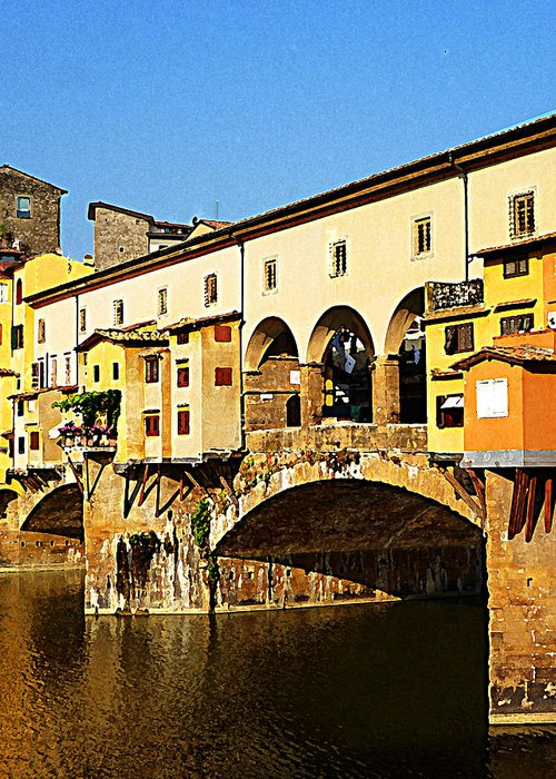Italy Greeting Card featuring the photograph Florence Italy Ponte Vecchio by Irina Sztukowski