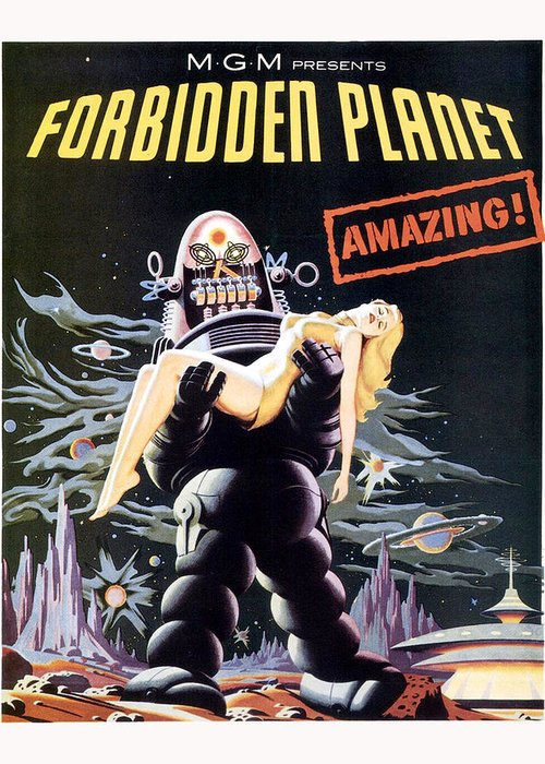 Forbidden Planet Greeting Card featuring the photograph Forbidden Planet by Silver Screen
