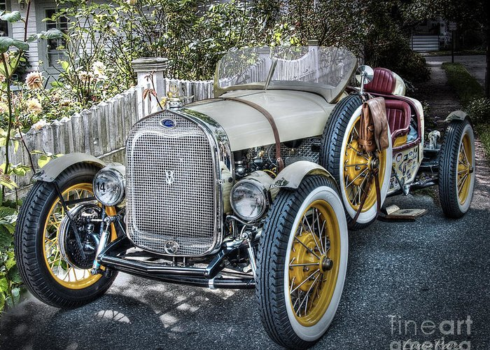 Ford Roadster Greeting Card featuring the photograph Ford Roadster by Louise Reeves