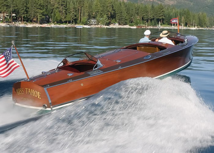 Gar Greeting Card featuring the photograph Gar Wood Runabout by Steven Lapkin