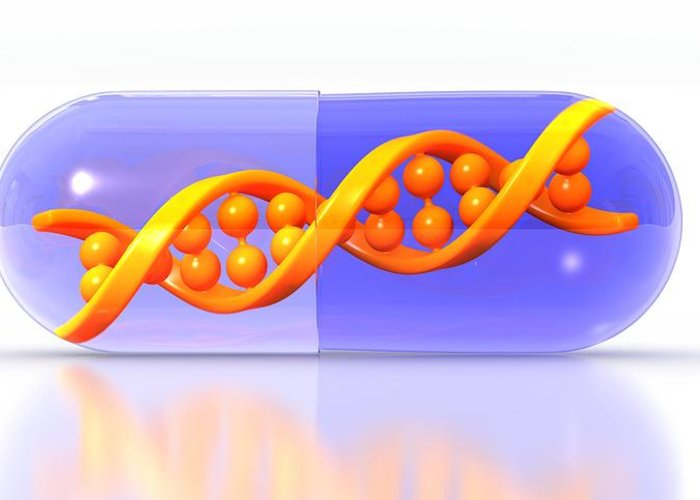 Artwork Greeting Card featuring the photograph Gene Therapy, Conceptual Image by Science Photo Library