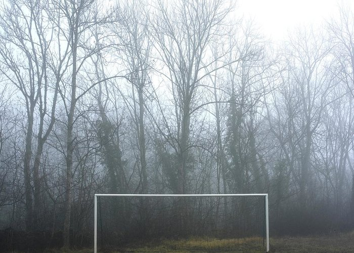 Abandoned Greeting Card featuring the photograph Goal by Bernard Jaubert