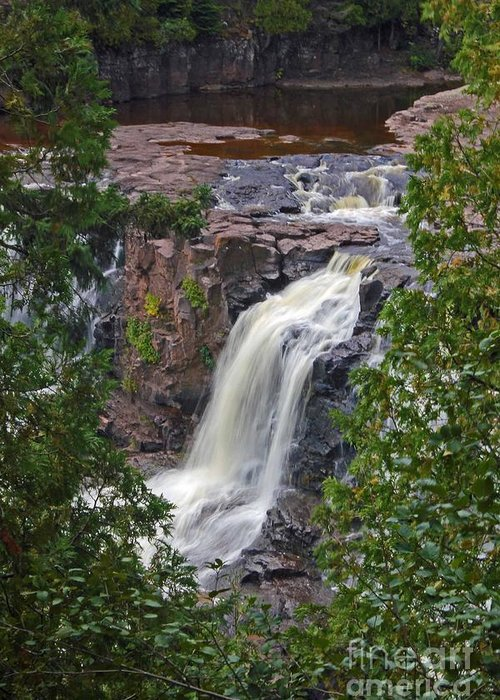 Gooseberry Falls Greeting Card featuring the photograph Gooseberry Falls by Stephanie Hanson