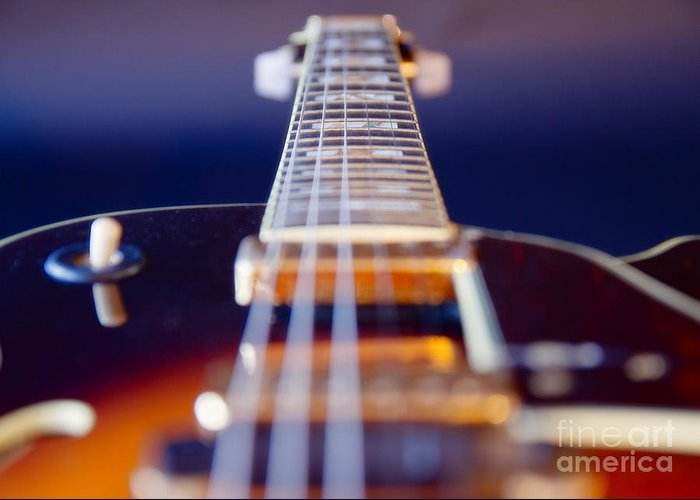 Abstract Greeting Card featuring the photograph Guitar by Stelios Kleanthous