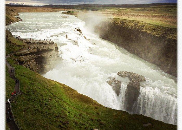 Gullfoss Greeting Card featuring the photograph Gullfoss waterfall Iceland by Matthias Hauser