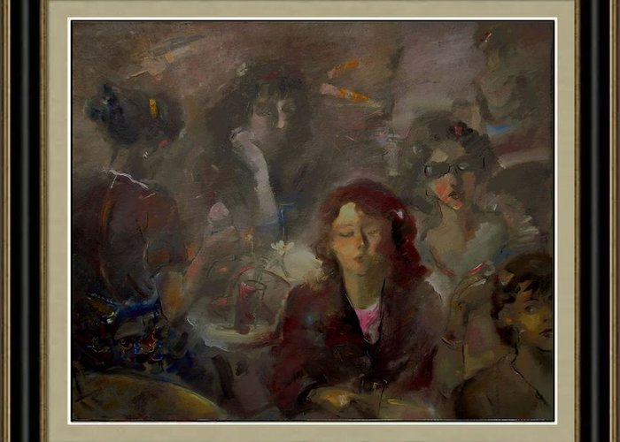 People Greeting Card featuring the painting Hen Party by Danail Tsonev