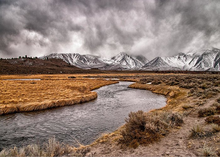 River Greeting Card featuring the photograph Hot Creek by Cat Connor