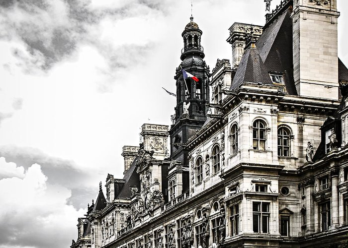 Hotel Greeting Card featuring the photograph Hotel De Ville In Paris by Elena Elisseeva