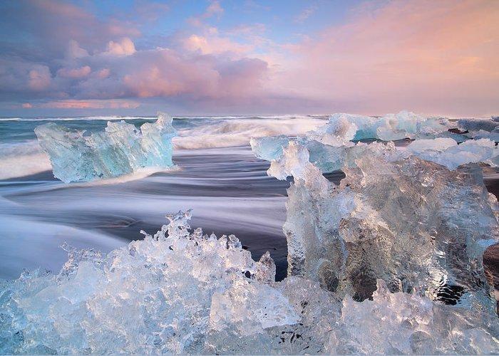 Scenics Greeting Card featuring the photograph Iceland, Skaftafell, Jokulsarlon by Travelpix Ltd