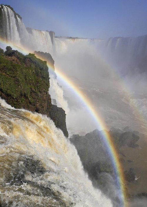 Brazil Greeting Card featuring the photograph Iguassu Falls by Michele Burgess
