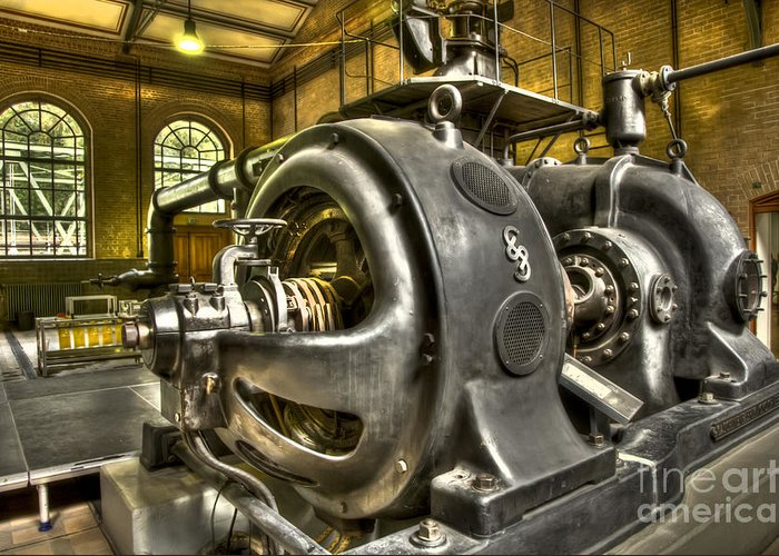 Heiko Greeting Card featuring the photograph In The Ship-lift Engine Room by Heiko Koehrer-Wagner