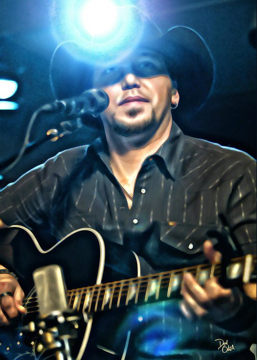 Jason Aldean Prints Greeting Card featuring the photograph Jason Aldean by Don Olea