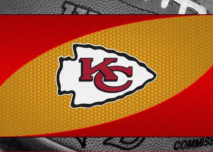 Chiefs Greeting Card featuring the photograph Kansas City Chiefs by Joe Hamilton
