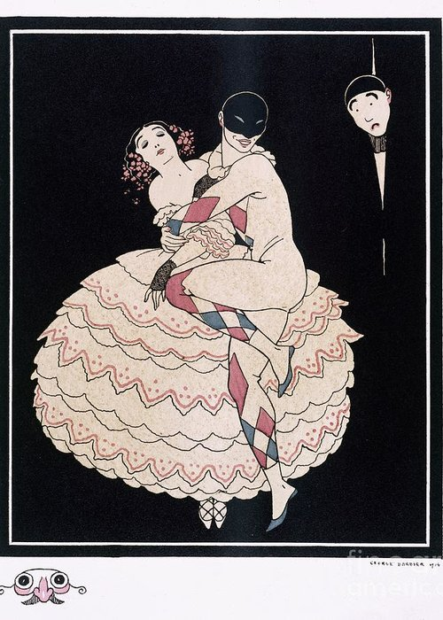 Male Greeting Card featuring the painting Karsavina by Georges Barbier