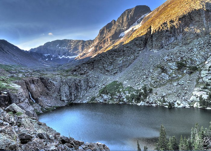 14er Greeting Card featuring the photograph Kit Carson Peak And Willow Lake by Aaron Spong