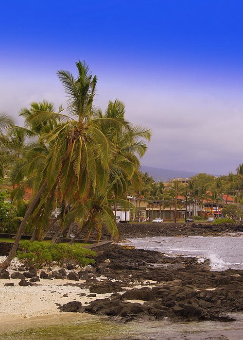 Seascape.landscape Greeting Card featuring the photograph Kona by Athala Carole Bruckner