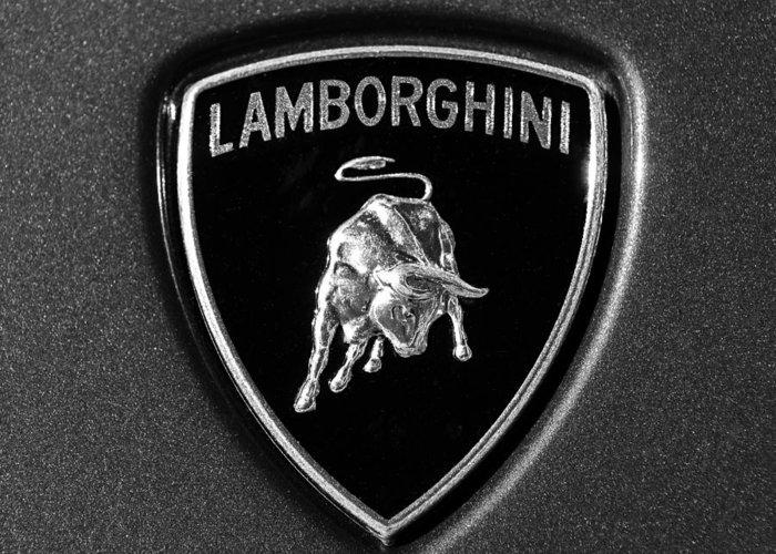 Lamborghini Emblem Greeting Card For Sale By Jill Reger