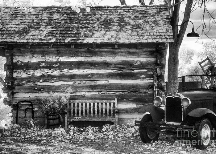 Log Cabin Greeting Card featuring the photograph Leiper's Fork by Jeff Holbrook
