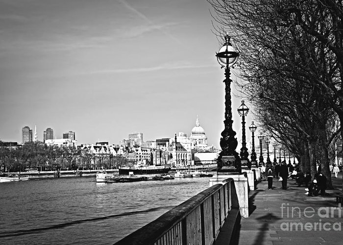 London Greeting Card featuring the photograph London View From South Bank by Elena Elisseeva