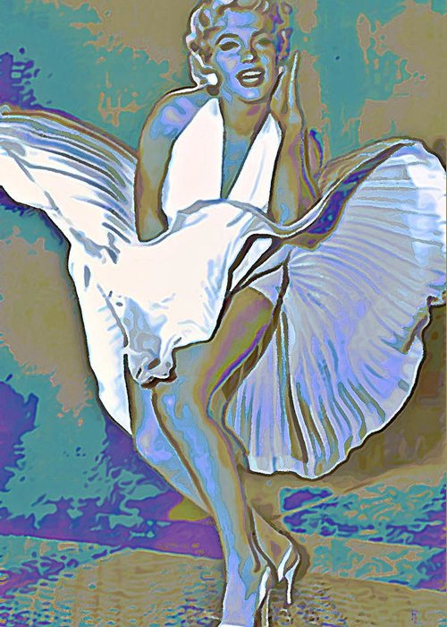 Fli Greeting Card featuring the painting Marilyn Monroe by Fli Art
