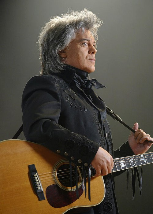Don Olea Greeting Card featuring the photograph Marty Stuart by Don Olea