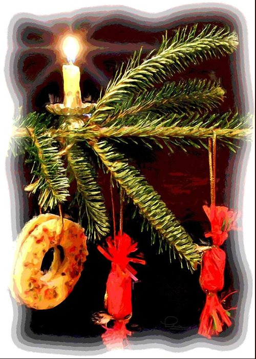 Christmas Greeting Card featuring the photograph Memories of a Christmas Past by Ludwig Keck