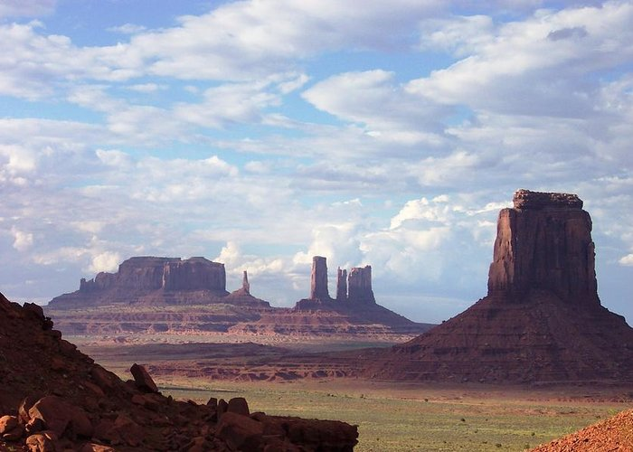 Monument Valley Greeting Card featuring the photograph Monument Valley by Pamela Schreckengost