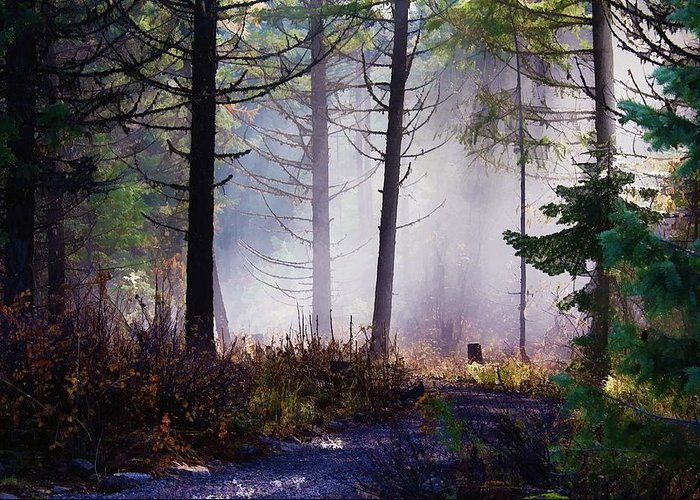Lanscape Greeting Card featuring the photograph Morning Mist by Donna Duckworth
