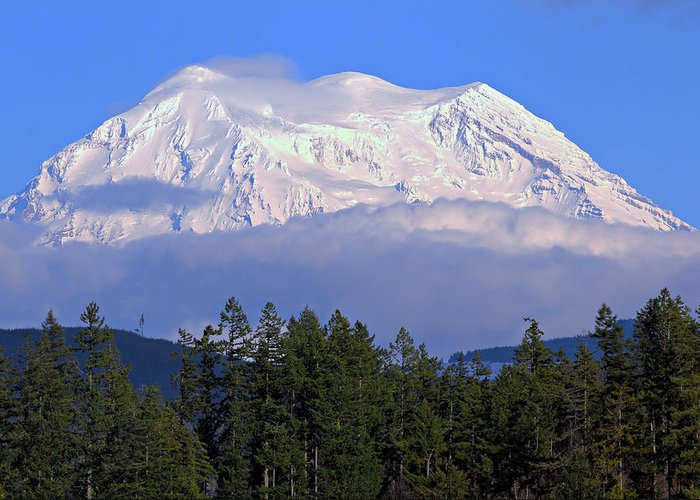 Outdoor Greeting Card featuring the photograph Mount Rainier by Paul Fell