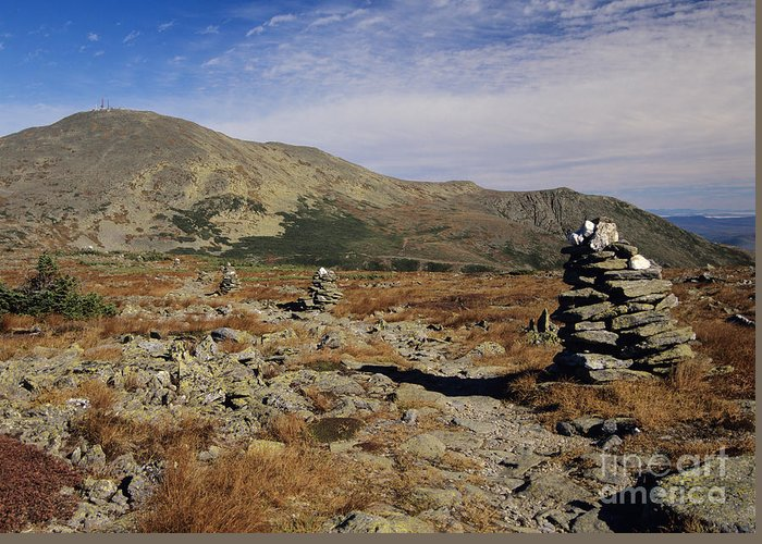 Hike Greeting Card featuring the photograph Mount Washington - White Mountains New Hampshire by Erin Paul Donovan